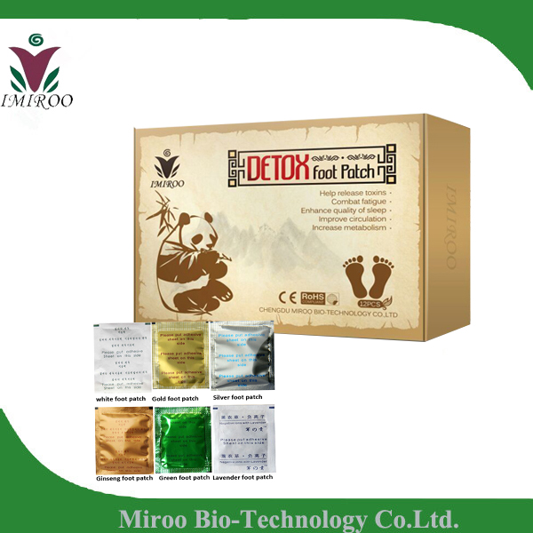 Original Factory ! IMIROO Bamboo Foot Patch, Detox Pads Slimming Gold Detox Patch( OEM for printing, label, paper box)