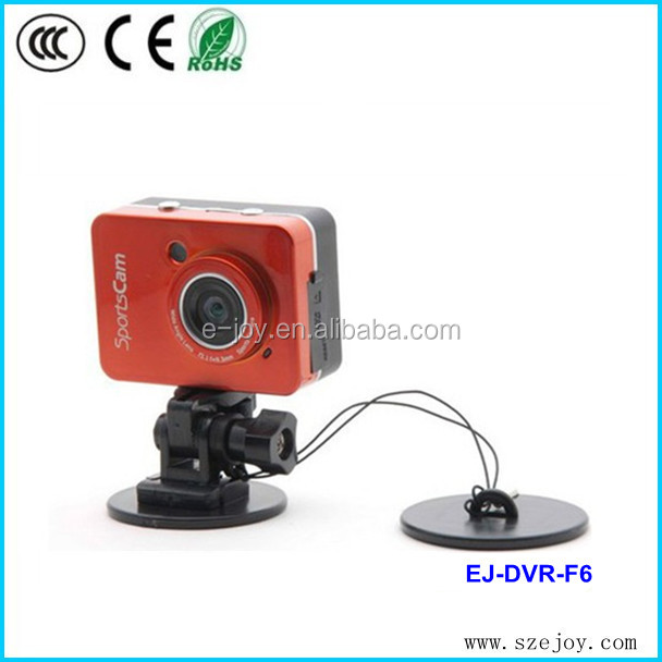 2014 new design F6 2.4 Touch Screen HD 1080P waterproof hd outdoor sports action camera with remote control