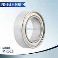 China supplier Cixi Negie factory made high speed precision MR63 miniature deep groove ball bearing