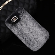 Luxury Rabbit Hair Skin Hard PC Cell Phone Cases Cover Plush Warm Fur Protective Shell For S7,S8,S8 Plus