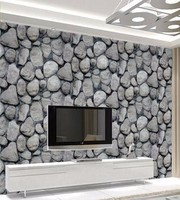 Natural view house decoration pebble wallpaper roll
