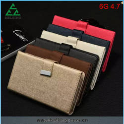 2016 New Arrivals for iPhone 6 4.7 2in1 Detachable Flip Wallet Leather Case,for iPhone Separable Credit Card TPU Leather Case