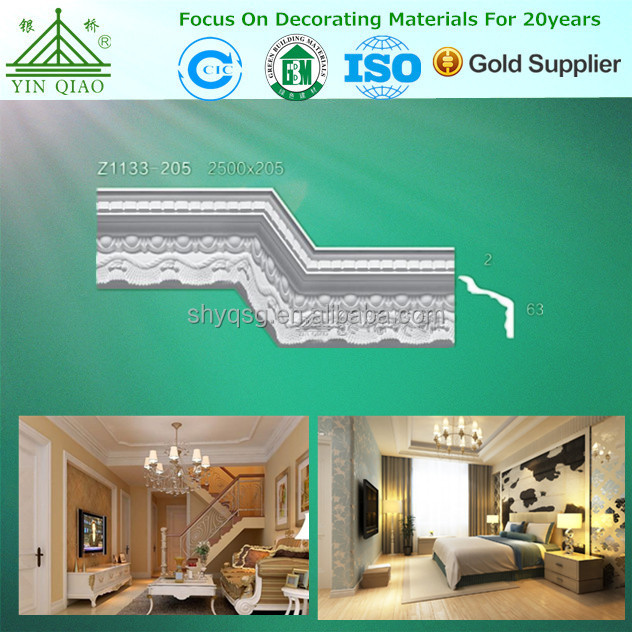 Mould Proof Decorative Gypsum Cornice For Private House Decorating