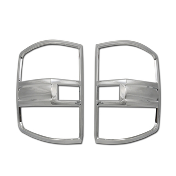 For Chevrolet Silverado 14 15 16 17 Tail Light Bezel Cover Chrome Plastic