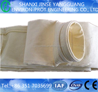 Strong anti-acid PPS fiber filter bag for waste plant