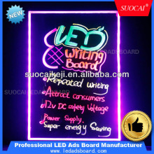 writable led fluorescent neon board lighted chalkboard signs with Remote control