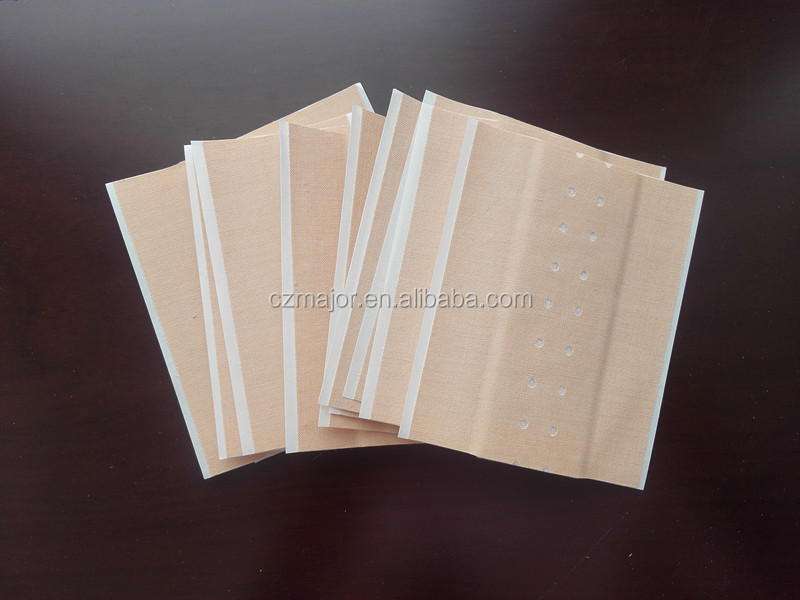 Adhesive wound dressing plaster/Cotton wound plast with absorbent pad/skin colour/8x10cm