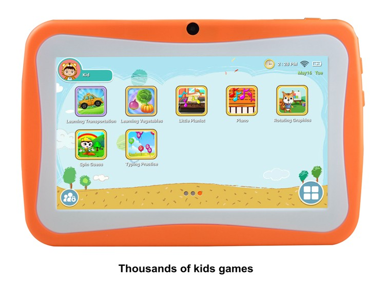 Wholesale 7 inch Android children software tablets for kids