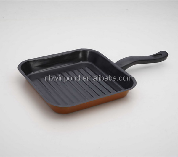 carbon steel non-stick microwave grill pan with ceramic coating