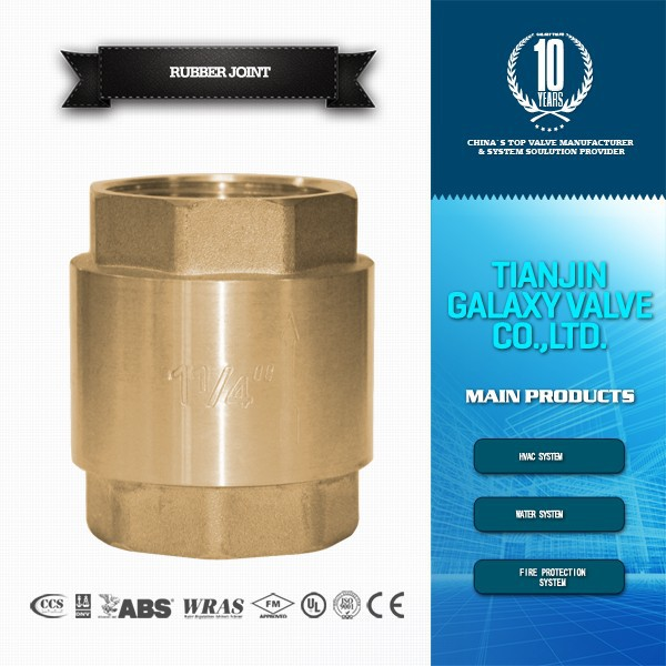 brass vertical lift threaded check valve