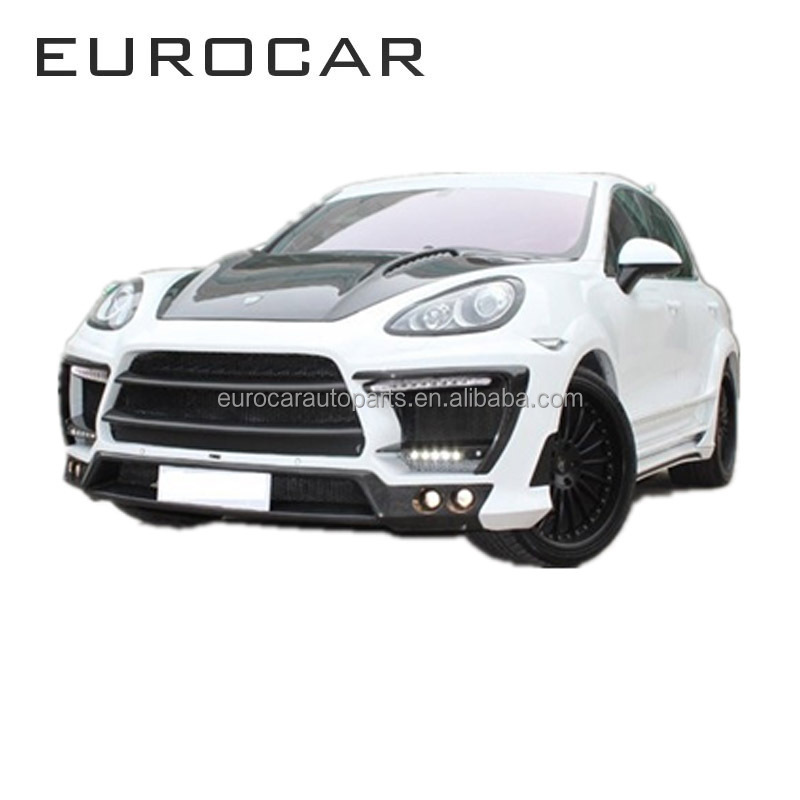 Perfect fitment FRP carbon fiber car tuning body kit for porsche cayenne 958 to lumma style set