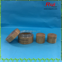 100g bamboo cosmetic cream jar/wooden cosmetic jar /bamboo cosmetic packaging