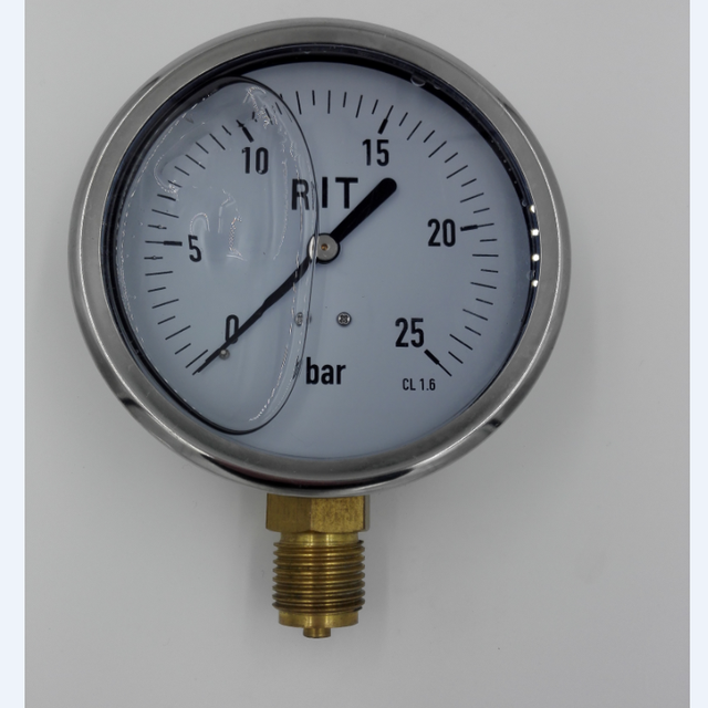 oil pressure gauge with bottom connection