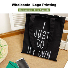 China suppliers cotton canvas shopping bag tote bag with logo printing