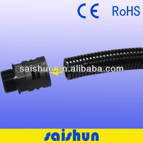 Hot sale plastic flexible corrugated tube connector