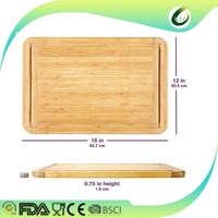 Organic Bamboo Vegetable Cutting Board Thick