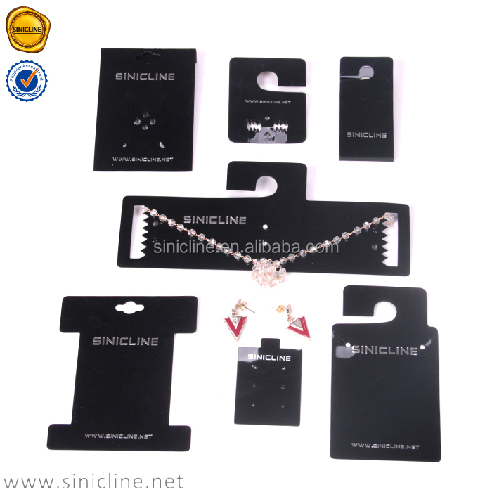 Sinicline high range jewelry display cards necklace&earring card