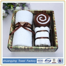 2015 china manufacturers cotton brand cake gift towel set