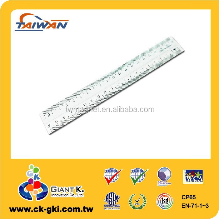 Drafting Supplies stationery 30 cm size measuring custom plastic ruler