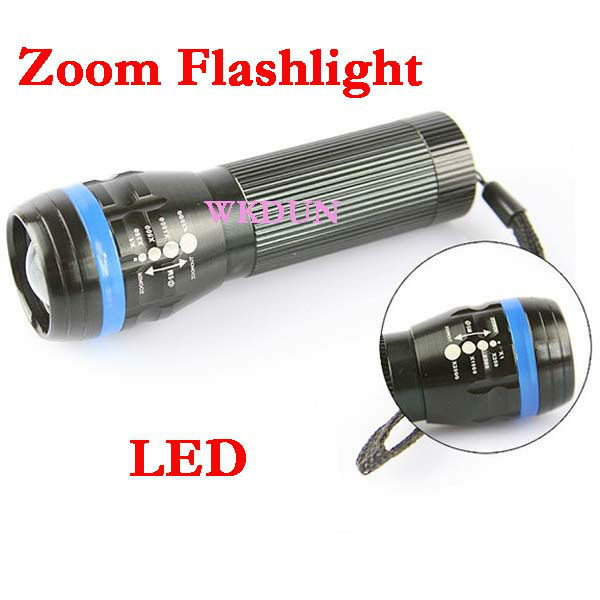 CREE lamp 3W high power aluminum rechargeable led flashlight with adjustable zoom focus beam light