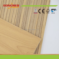 Light Textured Laminated Embossed Pattern MDF Board for Furniture