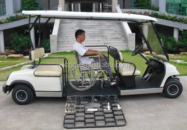 Small 4 seaters disabled electric golf car