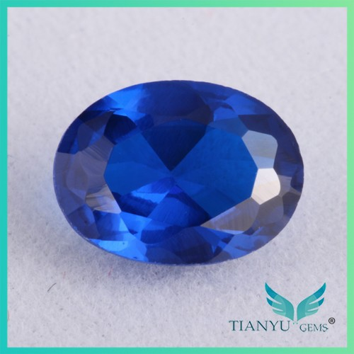 Free Sample wholesale #34 Shining Micro Pave Diamond Oval synthetic rough cabochon blue sapphire price for Jewelry making