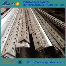 SS304 316 Perforated stainless steel profile angle size