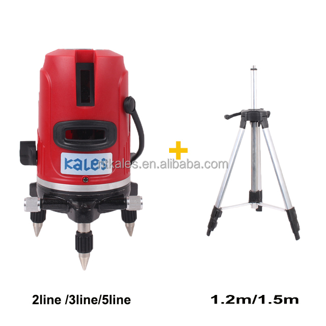 5 lines red beam laser level withel tripod