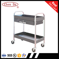 2 Layers High Quality Steel Rolling Cart /Tool cart with drawer
