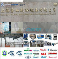 it schemes to produce ice dry , water chiller, block, tube, cube, flake, cube ice machine