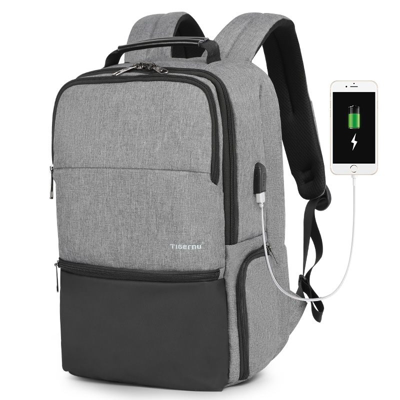 Tigernu <strong>backpack</strong> bag for men boys USB charging Anti-thief bag travel outdoor <strong>backpack</strong> for international travel