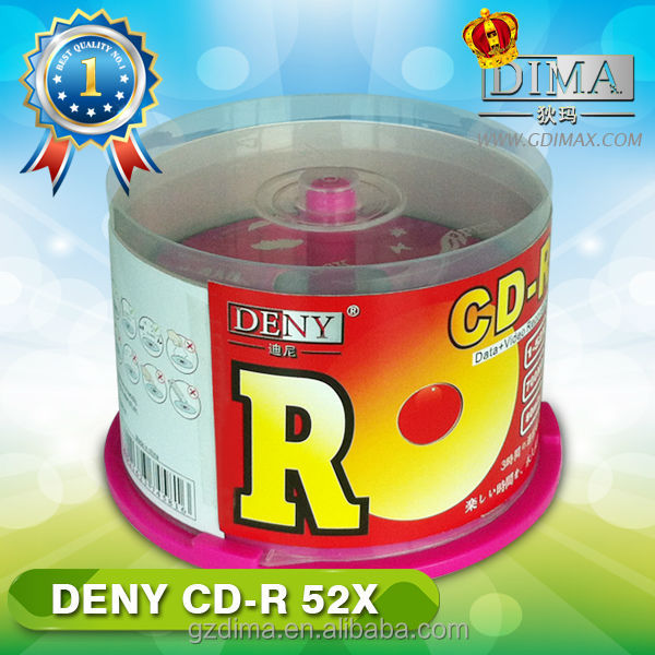 wholesale blank cd disc,own brand name deny blank cd