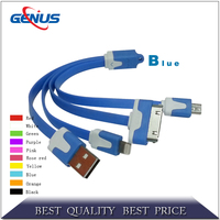 4 in 1 flat usb multifunctional data cable fast usb charging cable data line adapter