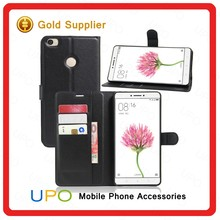 [UPO] Genuine Leather Flip Cell Phone Case for Xiaomi Max Magnetic Wallet Stand Cover Case