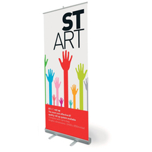 Custom Printed Adjustable Roll Up Banner Stand