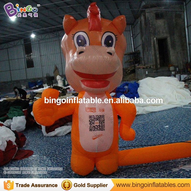 Hot-sale cartoon type giant inflatable dragon for sale