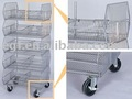 Mobile Basket / Stacking Basket / Rolling Basket (5 tiers)