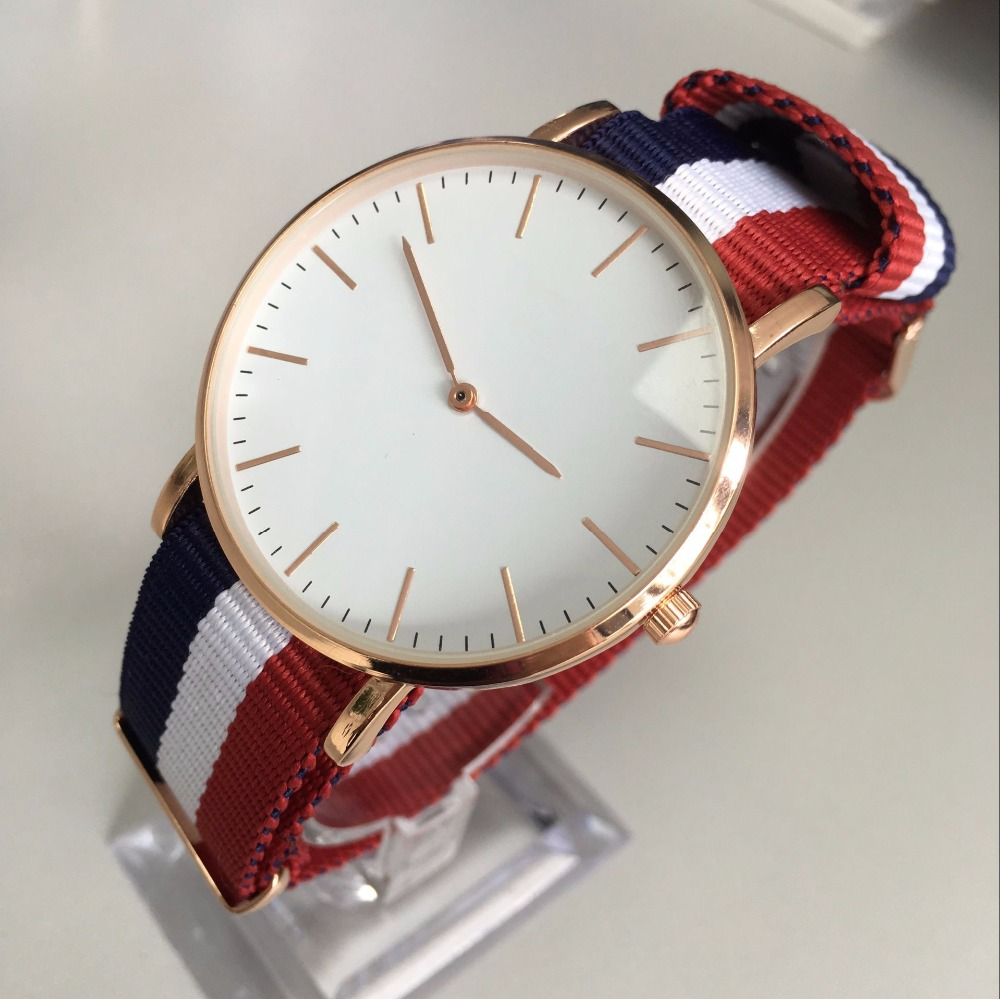 Top New Brand High Quality Watches Do Wathes with Your Creative Logo for Women Men Leather or nylon Strap Rose gold quartz watch