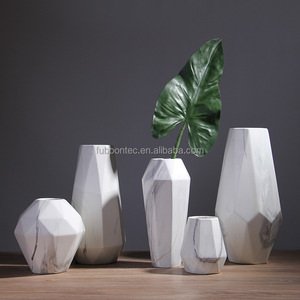 Nordic soft marble ceramic vase decoration flower arrangement furnishings