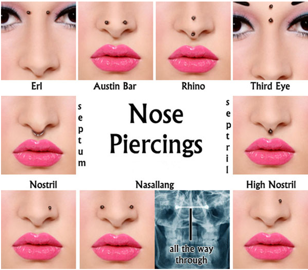 Anodized gold piercing nose jewelry CBR rings