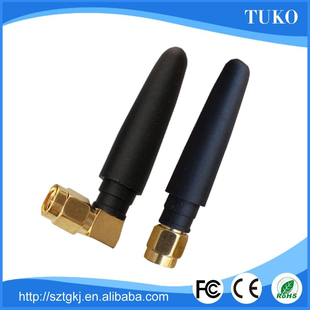 mini 50MM 2.4G rubber duck antenna for indoor with right angle and straight SMA