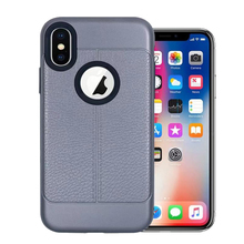 PU lines case for iphone X pc tpu phone cover for iphone X