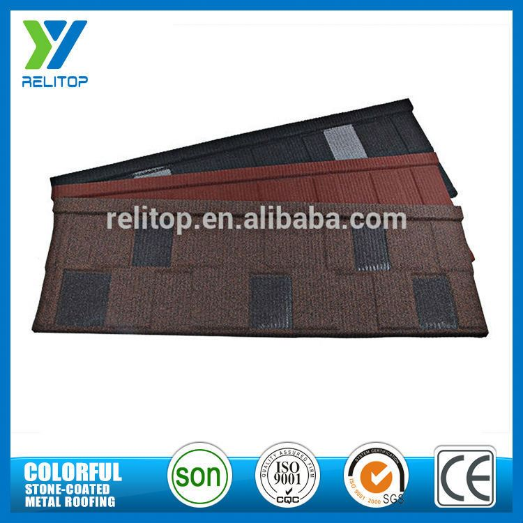 Factory Wholesale Price Aluminium Zinc Stone Chip Coated Roofing Shingles