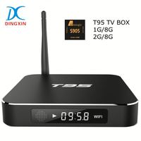 4K Amlogic S905 tv box T95 Quad core 64bits Fast Speed latest Android 5.1 OS tv box