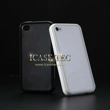 2013 New phone accessory fashion design high quality transparent soft pc case for iphone 4 4s