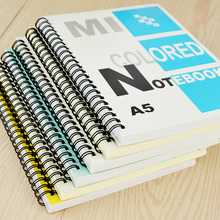 A5 double spiral notebook high-grade office students book wholesale softcover notepad