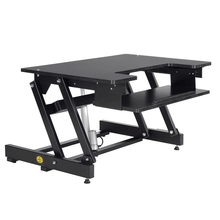 STARSDOVE Folding adjustable large laptop computer table electric sit stand desk