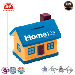 plastic house shaped coin bank