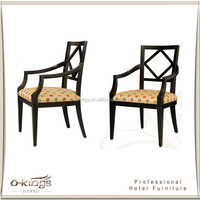 Chinese antique style solid wood carved dining chair